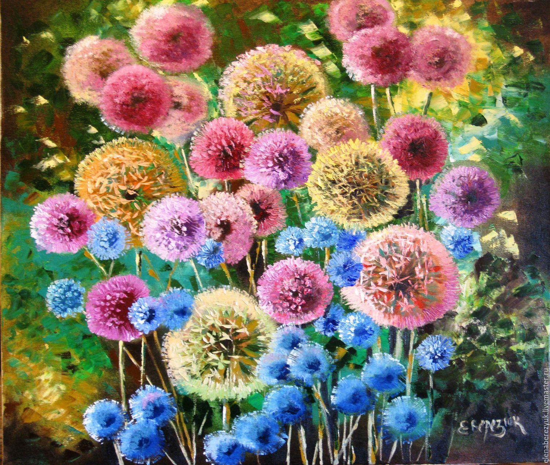 Купить картину маслом цветы на холсте