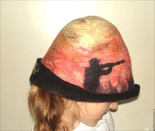 Банная шапочка для любителя охоты.