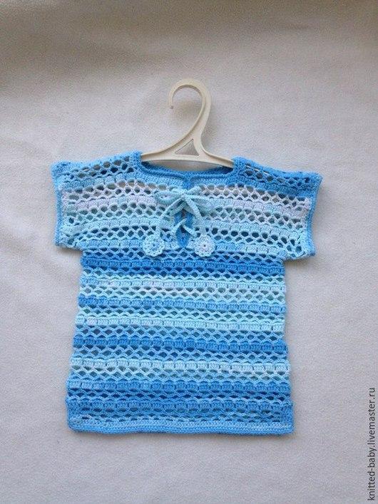 Одежда для мальчиков, ручной работы. Ярмарка Мастеров - ручная работа. Купить Футболка вязаная детская Лето. Handmade. Разноцветный, для малышей