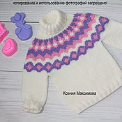 Работы для детей, handmade. Livemaster - original item sweater for girls. Handmade.
