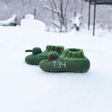 Footwear handmade. Livemaster - original item Felted slipper  socks for children Tank T - 34. Handmade.