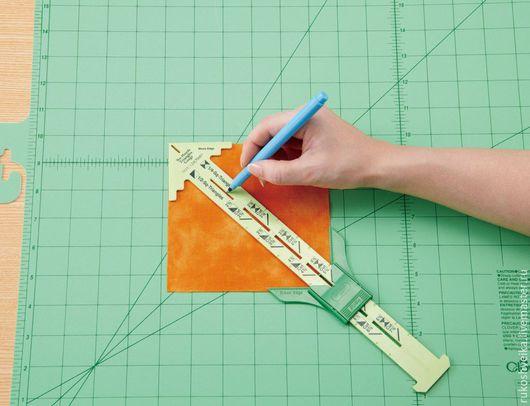 Шитье ручной работы. Ярмарка Мастеров - ручная работа. Купить Линейка треугольник Clover. Handmade. Комбинированный, линейка для пэчворка, печворк