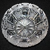 Винтаж handmade. Livemaster - original item Beautiful crystal ashtray, hand-cut, Czechoslovakia. Handmade.