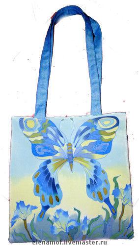 Женские сумки ручной работы. Ярмарка Мастеров - ручная работа. Купить Сумка бабочка. Handmade. Сумка, шелковая сумка, бабочки