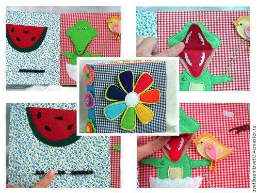Развивающие игрушки ручной работы. Ярмарка Мастеров - ручная работа. Купить Развивающая книга на 16 страниц. Handmade. Комбинированный, фетр
