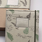 Канцелярские товары handmade. Livemaster - original item Album for Forest herbarium (A4, for 40 plants). Handmade.