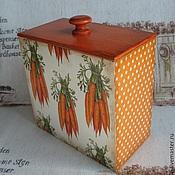 """Для дома и интерьера ручной работы. Ярмарка Мастеров - ручная работа Короб для хранения """"Витаминная морковка"""". Handmade."""