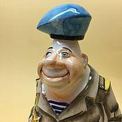 Подарки к праздникам handmade. Livemaster - original item The paratrooper shtof porcelain. Professional kit. Handmade.