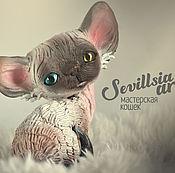 Куклы и игрушки handmade. Livemaster - original item Bubby, cat Devon Rex. Handmade.