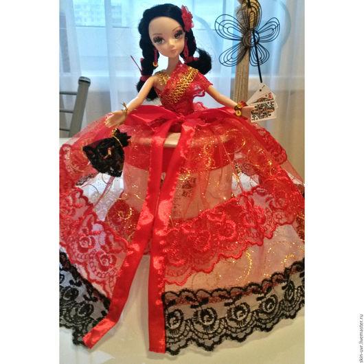 Шкатулки ручной работы. Ярмарка Мастеров - ручная работа. Купить Кукла-шкатулка Кармен. Handmade. Ярко-красный, красивый подарок
