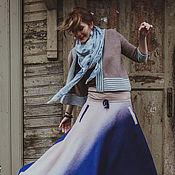 """Одежда ручной работы. Ярмарка Мастеров - ручная работа Юбка """"Млечный путь"""" (джинсовая). Handmade."""