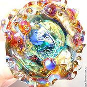 Украшения handmade. Livemaster - original item Ring Atoll in the technique of lampwork. Handmade.