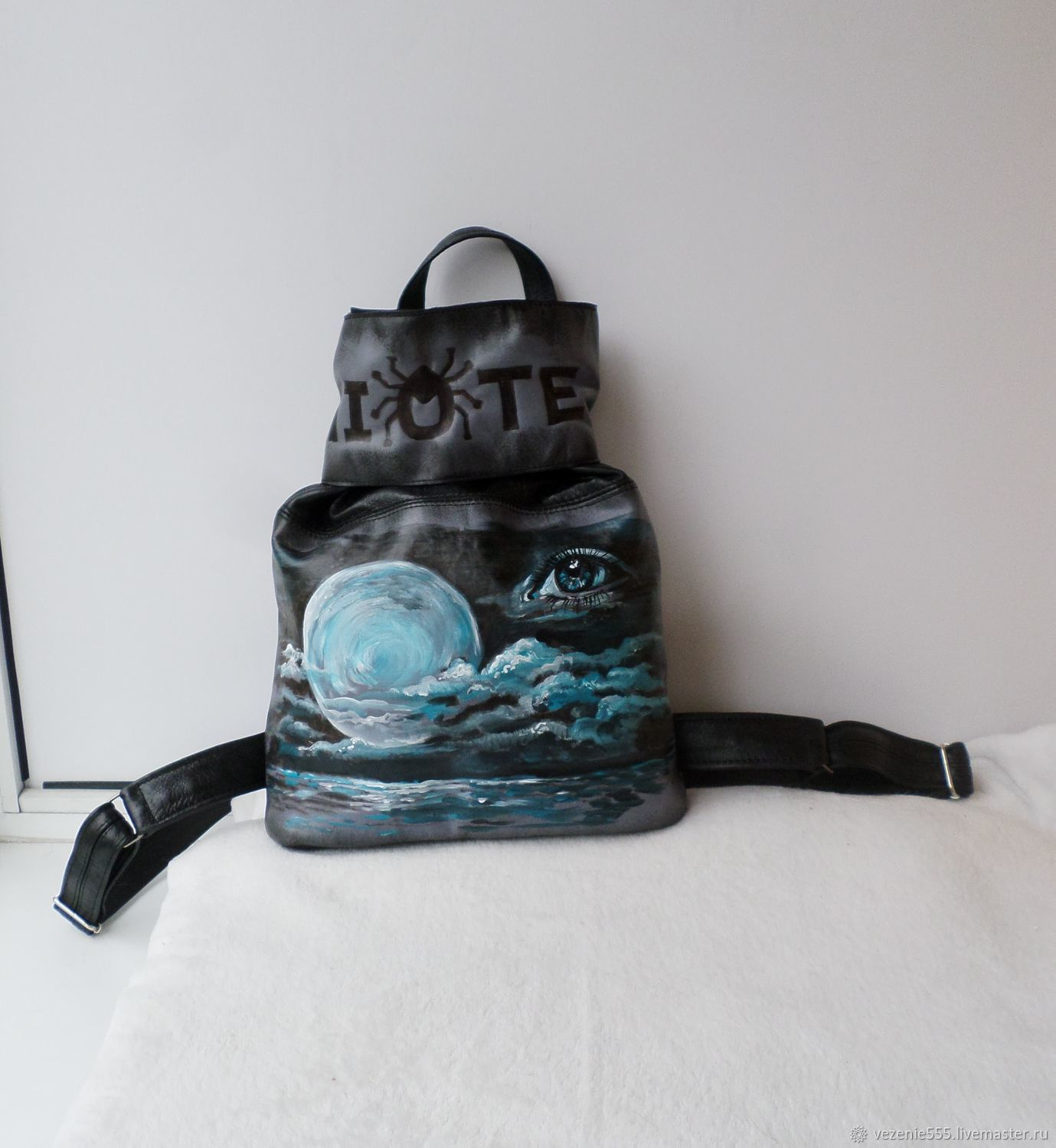 Leather backpack with engraving and painting to order for Elena, Backpacks, Noginsk,  Фото №1