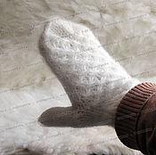 Аксессуары handmade. Livemaster - original item varezhki from goat`s fuzz. Handmade.