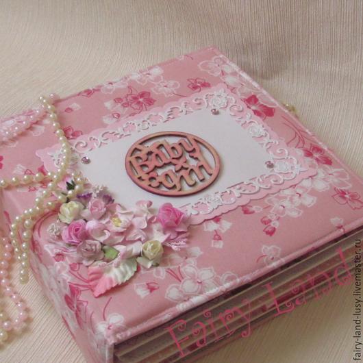 """Фотоальбомы ручной работы. Ярмарка Мастеров - ручная работа. Купить Фотоальбом """"Первый год"""". Handmade. Розовый, фотоальбом в подарок"""