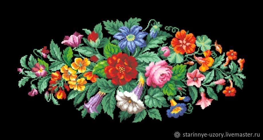 Цветочная розетка, Схемы для вышивки, Москва,  Фото №1