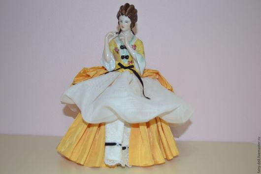 Винтажные куклы и игрушки. Ярмарка Мастеров - ручная работа. Купить Продано. Чайная кукла-половинка/half doll. Handmade. Кукла-половинка