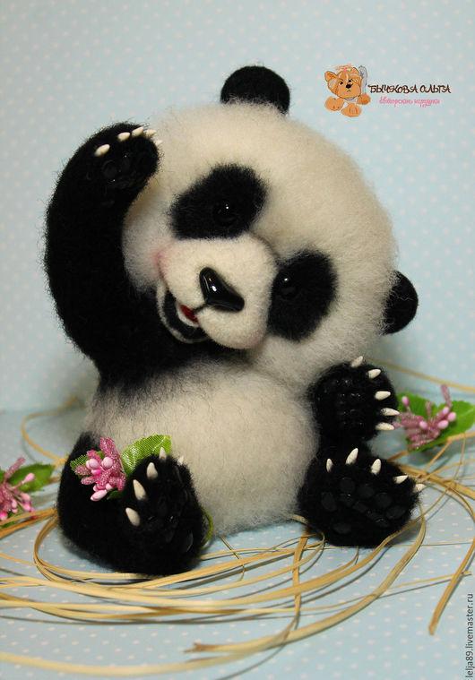 """Игрушки животные, ручной работы. Ярмарка Мастеров - ручная работа. Купить Панда """"Йо"""". Handmade. Чёрно-белый, полимерная глина"""