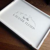 """Для дома и интерьера ручной работы. Ярмарка Мастеров - ручная работа Поднос на ножках """"Lavande fleurs"""" white. Handmade."""