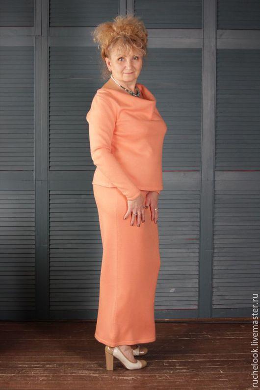 Костюм женский, женский костюм, вязаный костюм, костюм вязаный, костюм с юбкой, костюм с длинной юбкой, вечерний костюм, повседневный костюм, теплый вязаный костюм, теплый костюм, костюм теплый