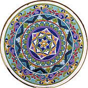 Plates handmade. Livemaster - original item Plate decorative of ceramic.40cm.. Handmade.
