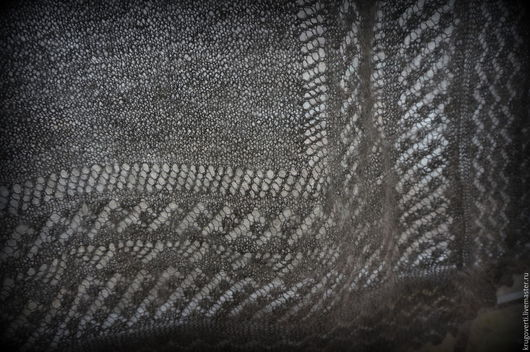 Шали, палантины ручной работы. Ярмарка Мастеров - ручная работа. Купить Оренбургский платок. Handmade. Серый, Оренбургский, толстый