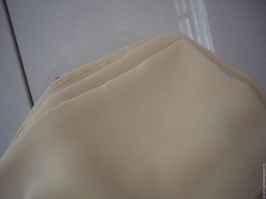 Шитье ручной работы. Ярмарка Мастеров - ручная работа. Купить Ткань, кремовый крепдешин 2,5 м. Handmade. Кремовый