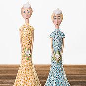 """Куклы и игрушки ручной работы. Ярмарка Мастеров - ручная работа Кукла-колокольчик """"Девушка с ландышами"""". Handmade."""
