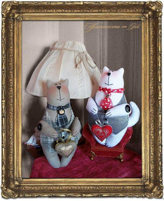 Игрушки животные, ручной работы. Ярмарка Мастеров - ручная работа. Купить Коты-аристократы. Handmade. Белый, котик, бязь
