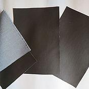 Материалы для творчества ручной работы. Ярмарка Мастеров - ручная работа листы экокожи №222 темно коричн. Handmade.