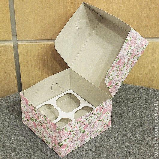 Упаковка ручной работы. Ярмарка Мастеров - ручная работа. Купить Коробочка 16х16х10 см розовые цветы. Handmade. Коробочка