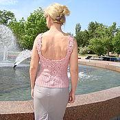 """Одежда ручной работы. Ярмарка Мастеров - ручная работа майка вязаная розовая """" Пастельное лето"""". Handmade."""
