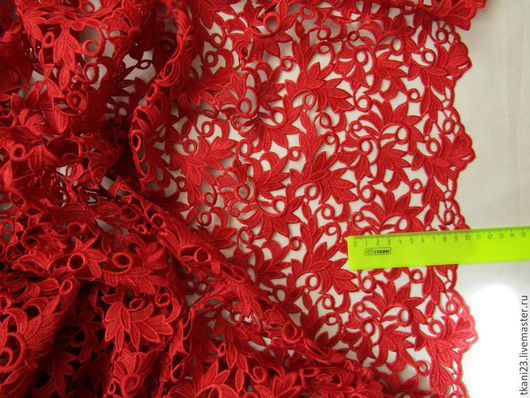 Шитье ручной работы. Ярмарка Мастеров - ручная работа. Купить Кружево арт.3 КР-6 (Корея) красный. Handmade.