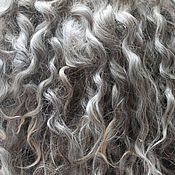Материалы для творчества handmade. Livemaster - original item Hair for dolls (grey, natural, unwashed) Curls Curls for dolls. Handmade.