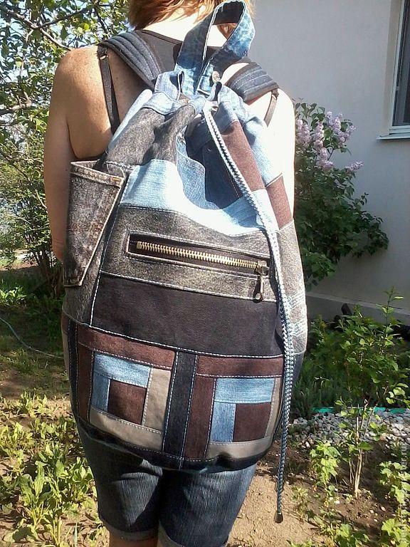 Backpack denim Music, Backpacks, Saratov,  Фото №1