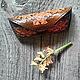 """Футляры, очечники ручной работы. Ярмарка Мастеров - ручная работа. Купить Очечник из кожи """"Дубовый лист"""". Handmade. Разноцветный"""