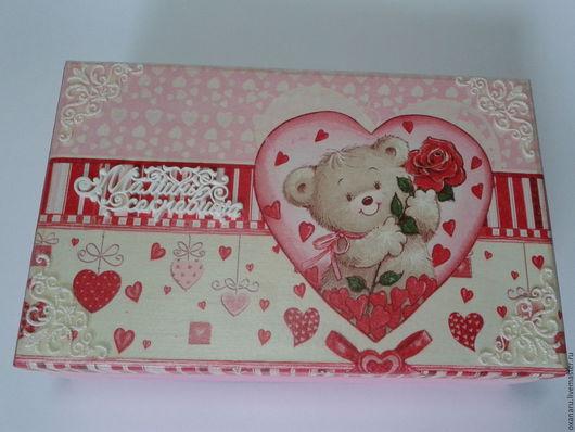 """Подарки для новорожденных, ручной работы. Ярмарка Мастеров - ручная работа. Купить Шкатулка Мамины сокровища для девочки """" Под сердцем у мамы"""". Handmade."""