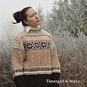 Sweaters handmade. Livemaster - original item Oversize Hand Knitted Scandinavian Sweater. Handmade.
