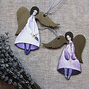 Подарки к праздникам ручной работы. Ярмарка Мастеров - ручная работа Ангелы лавандовые - золотокрылые. Handmade.