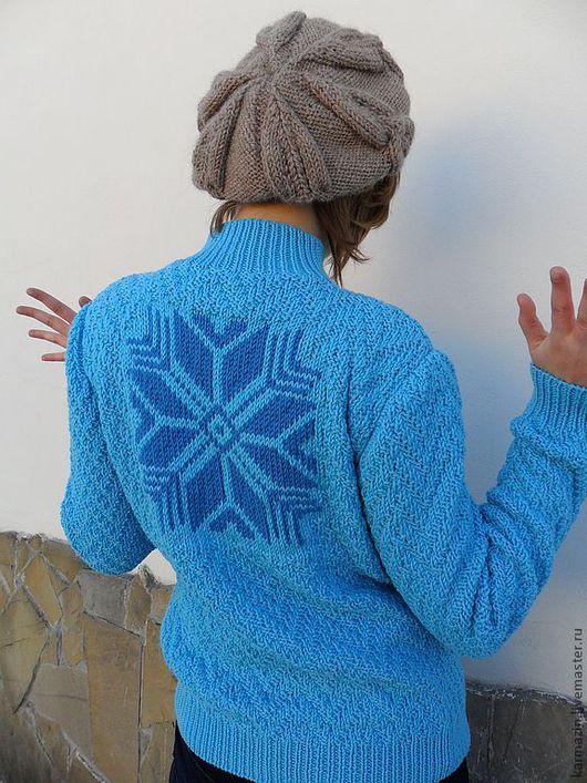 Кофты и свитера ручной работы. Ярмарка Мастеров - ручная работа. Купить Джемпер Снегопад. Handmade. Голубой, свитер с рисунком, Север