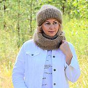Аксессуары handmade. Livemaster - original item Fashionable knitted down set of Large knitting for women. Handmade.