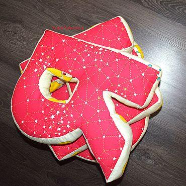Для дома и интерьера ручной работы. Ярмарка Мастеров - ручная работа Подушки-буквы. Handmade.
