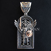 Украшения handmade. Livemaster - original item Silver suspension silver,gold Archangel Michael. Handmade.