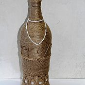 "Бутылки ручной работы. Ярмарка Мастеров - ручная работа Бутылка-ваза декоративная "" Дама"". Handmade."