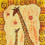 Картины ручной работы. Ярмарка Мастеров - ручная работа Жирафы. Handmade.