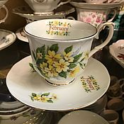 Винтаж handmade. Livemaster - original item A couple of tea February (February), bone China (3721). Handmade.