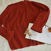 Одежда ручной работы. Ярмарка Мастеров - ручная работа Джемпер, свитер  короткий «Рыжий». Handmade.