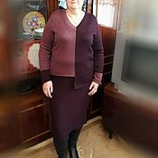 Вязанный женский костюм из 100% мериноса