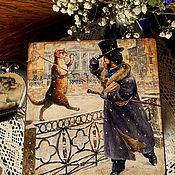 """Для дома и интерьера ручной работы. Ярмарка Мастеров - ручная работа Шкатулка """" Привет Пушкин ! """". Handmade."""