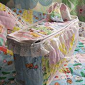Для дома и интерьера ручной работы. Ярмарка Мастеров - ручная работа Короб-сумка для хранения белья.. Handmade.